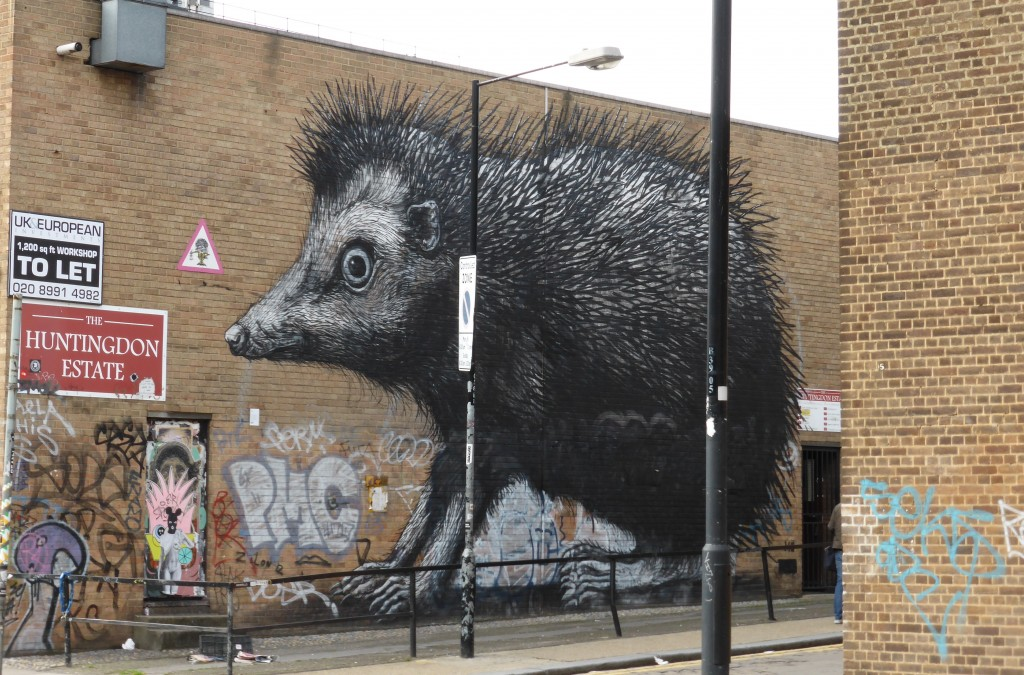 ROA Hedgehog London Street Art