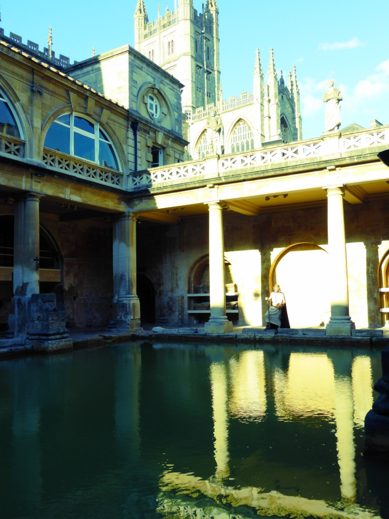 Roman Baths sunset
